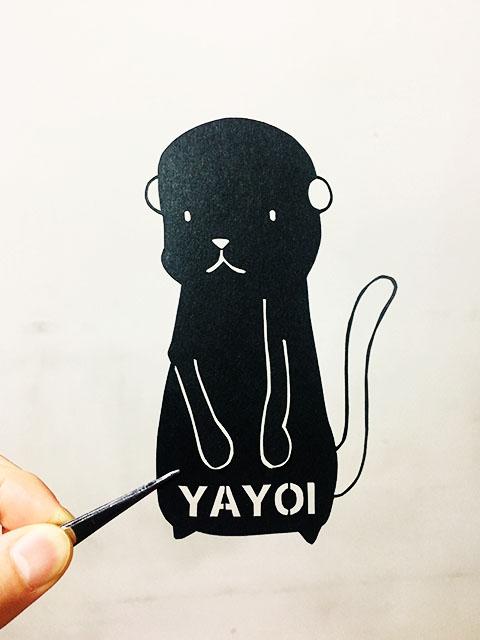 フリー図案簡単な図案からやってみよう 切り絵のやり方 Yayoi Kuronuma